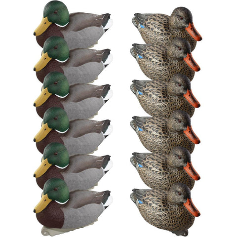 Cupped Finishing Mallards Decoys 6 Drakes 6 Hens