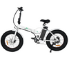 Image of Ecotric Fat Tire Portable and Folding Electric Bike-Matt Black and blue