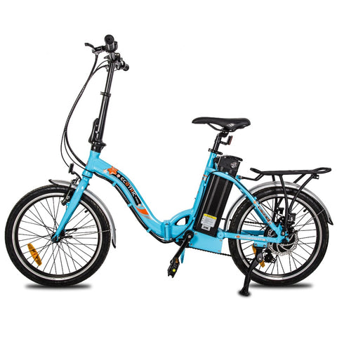 Ecotric Starfish 20inch portable and folding electric bike - Matt Black