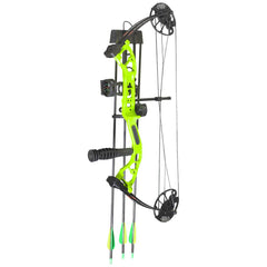 PSE Mini Burner RTS Package Lime Green 16-26.5 in. 40 lbs. RH
