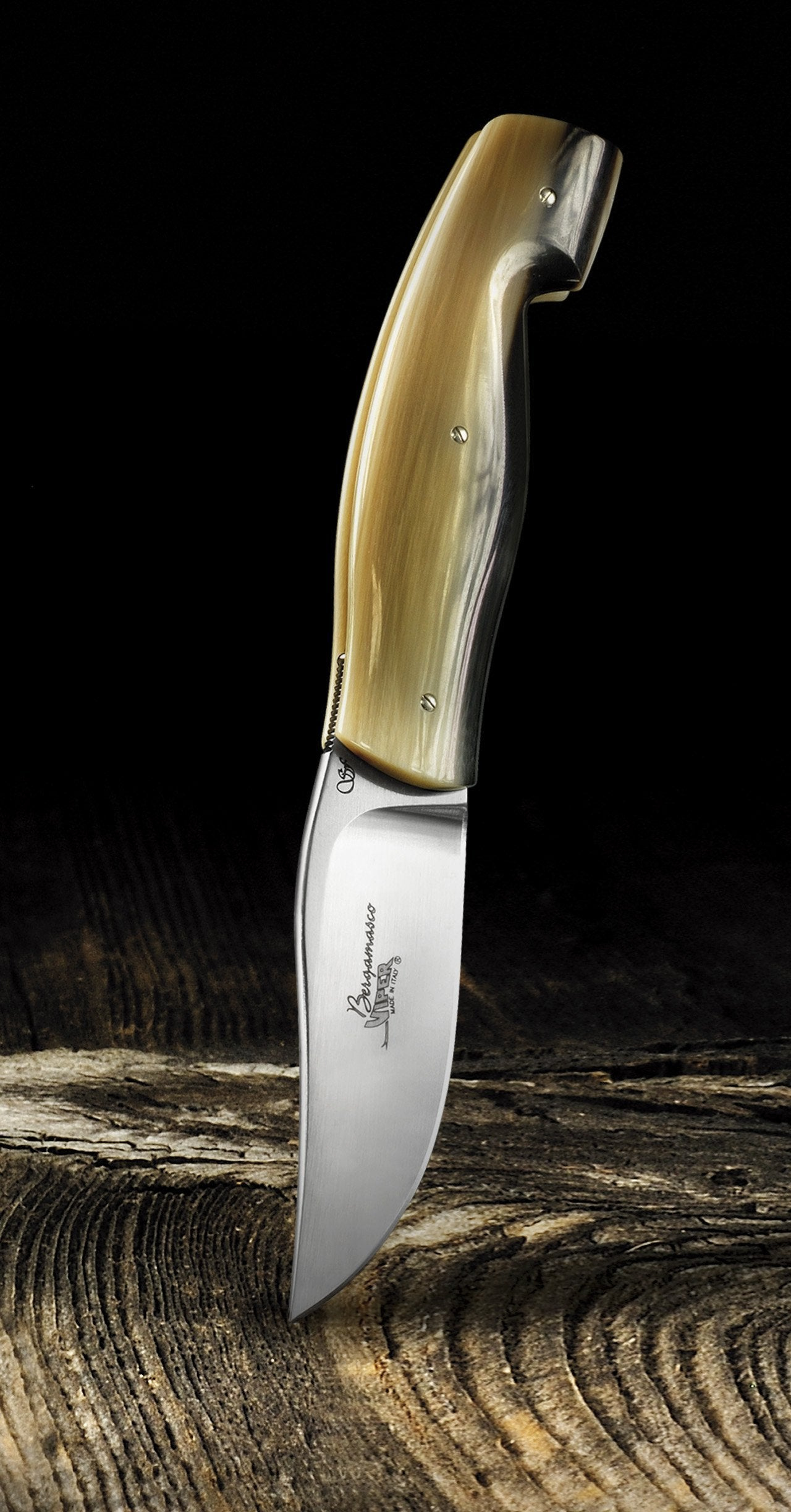 Bergamasco Italian Pocket Knife with Ox Horn Handle