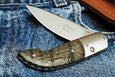 Gent Grey Oak Handmade Italian Gentleman's Pocket Knife with Titanium Bolster