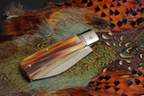 "Italian Hunting Knife ""Caccia Mugellano"" with Ox Horn Handle (by Coltelleria Fontani)"