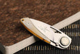 Slim African Ox Horn Italian Gentleman's Pocket Knife