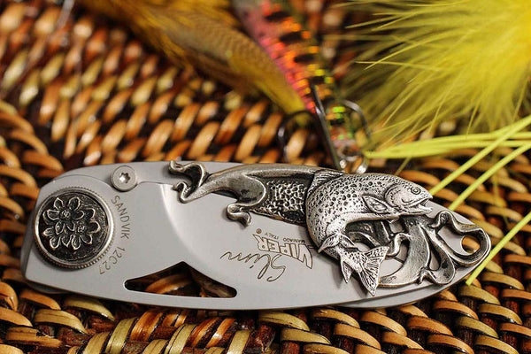 Slim Silver Trout Gentleman's Pocket Knife