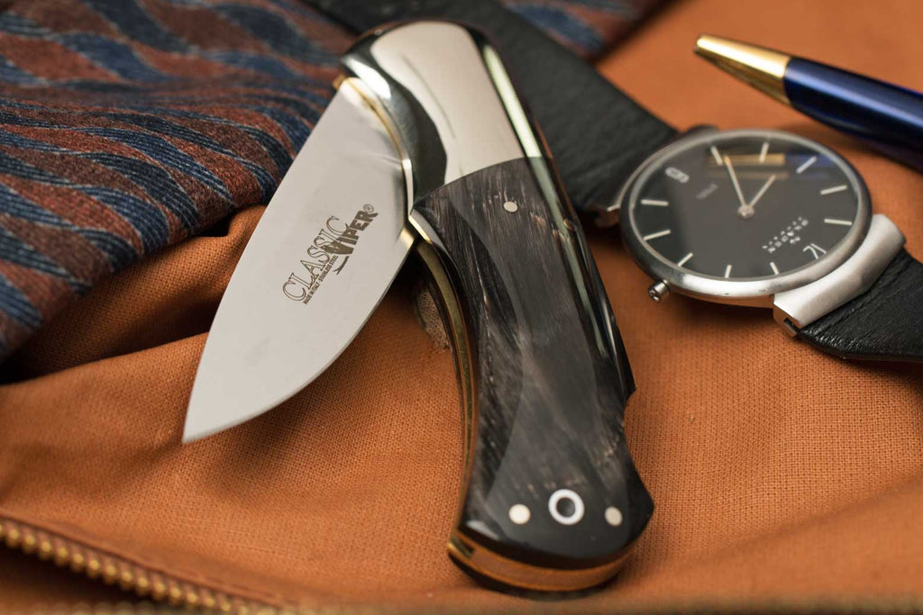 Classic African Ox Horn Gentleman's Pocket Knife, [product_vendor} - The Italian Knife Maker