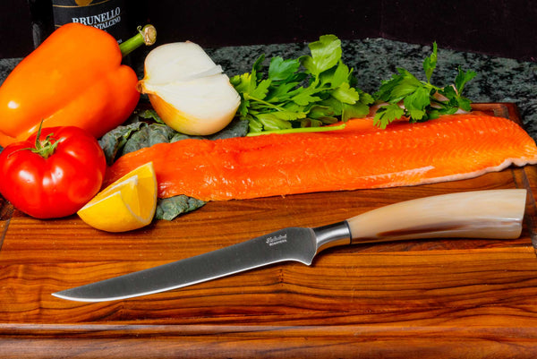 Saladini Italian Boning Knife with Sculpted Ox Horn Handle, [product_vendor} - The Italian Knife Maker