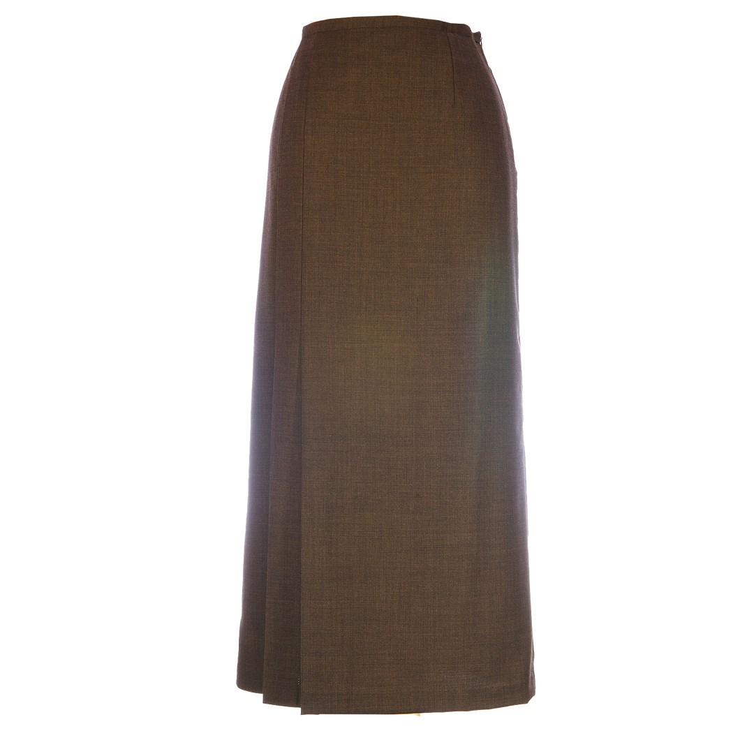 Two Side Pleats Brown
