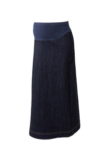 Maternity A-line Denim Skirt