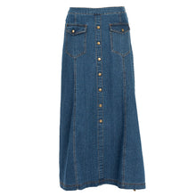 Buttons & Pockets Denim Skirt