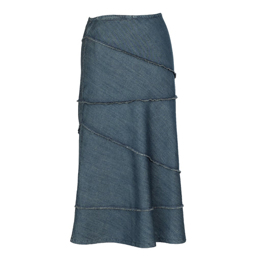 City Chic - Nostalgic Long Denim Skirt