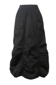 Ruched Black Skirt