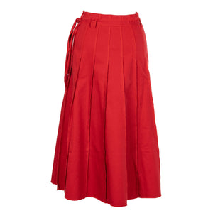 Unique Red Multiple Panel Skirt