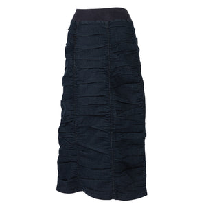 Ruched Midnight Blue Skirt
