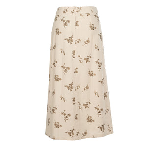 Tea Time A-line Linen Look Skirt