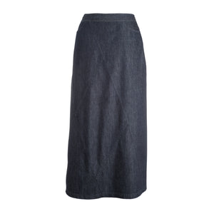 Diamond Seams Dark Denim Skirt