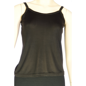Silk  Pointelle Camisole - Black