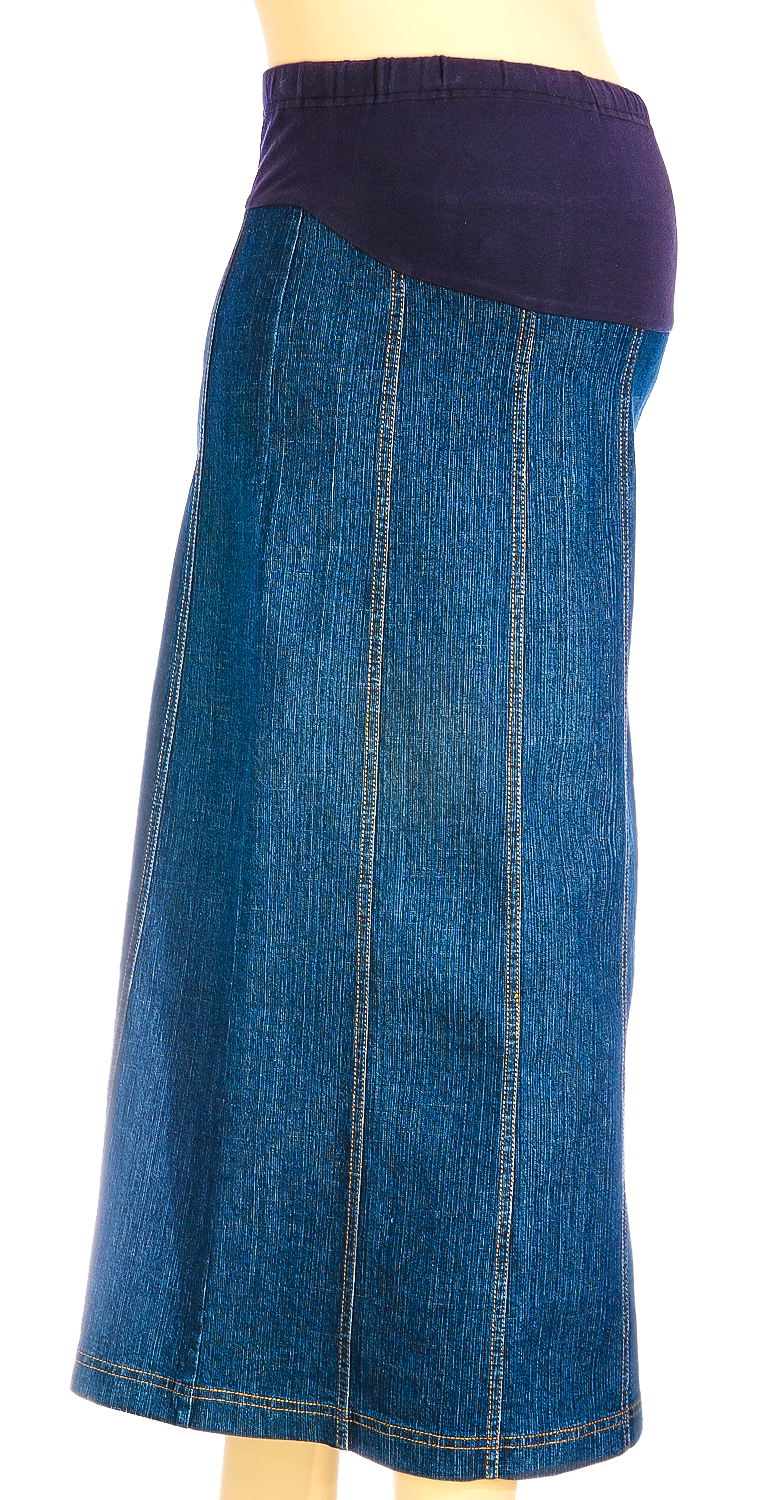 Maternity Panel Denim Skirt