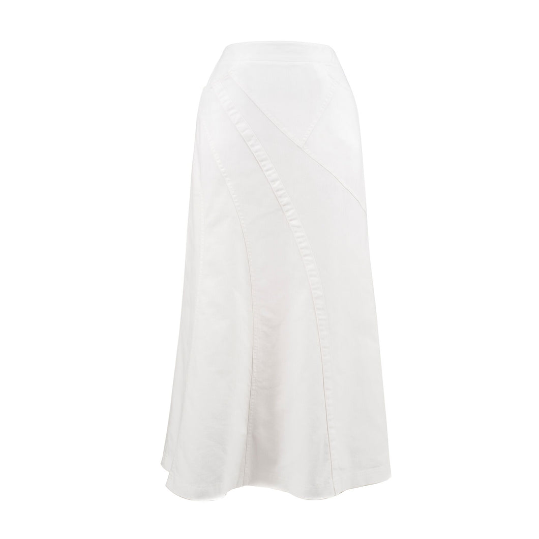 Natalie White Denim Skirt