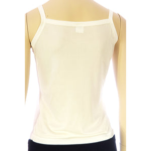 Silk  Pointelle Camisole - White