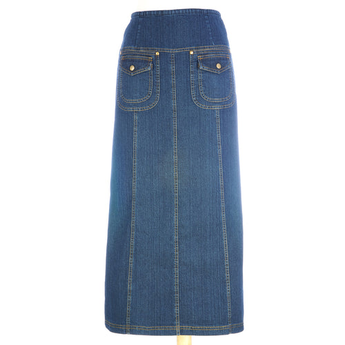Double Pocket Denim Skirt