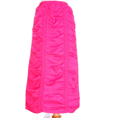 Ruched Skirt - Fuchsia