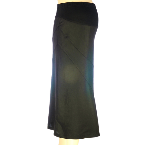 Maternity Skirt Diagonal Black