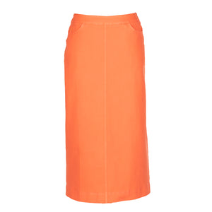 nC Classic Orange Red Denim Skirt