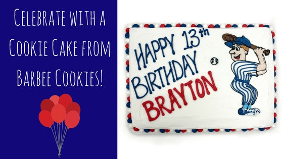 Celebrate with a Cookie Cake from Barbee Cookies!
