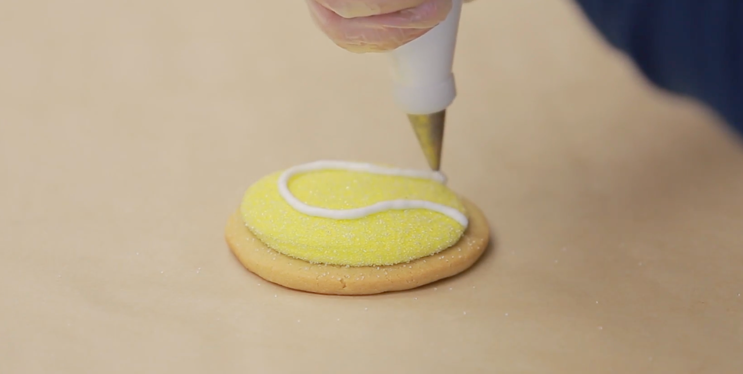 Tennis Ball Cookie Decorating Tips with Barbee Cookies