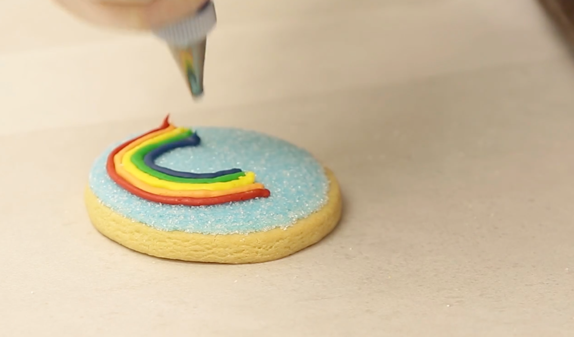 Rainbow Cookie Decorating Tips with Barbee Cookies