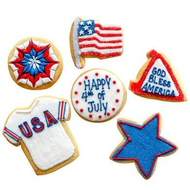 A Dozen Decorated 4th Of July Cookies