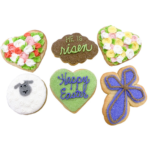 "A Dozen Decorated ""He is Risen"" Easter Cookies"