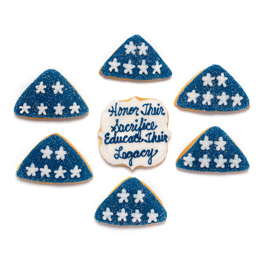 "A Dozen Decorated ""Folds of Honor"" Cookies"