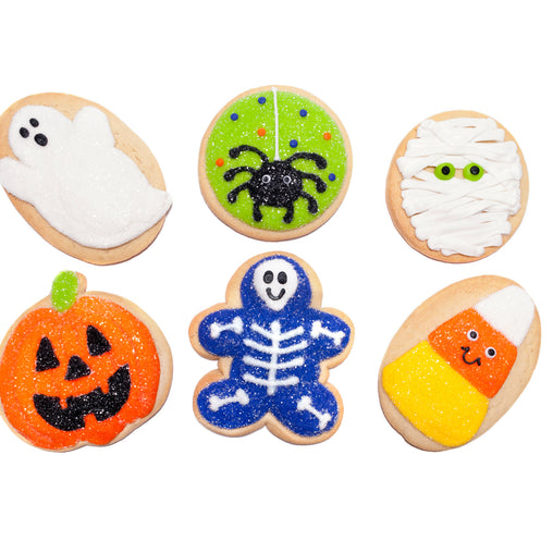 A Dozen Decorated Halloween Cookies