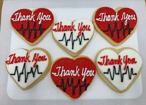 "A Dozen Decorated ""Thank You"" Cookies"