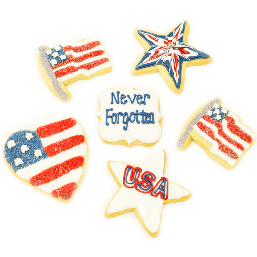 A Dozen Decorated Memorial Day Cookies