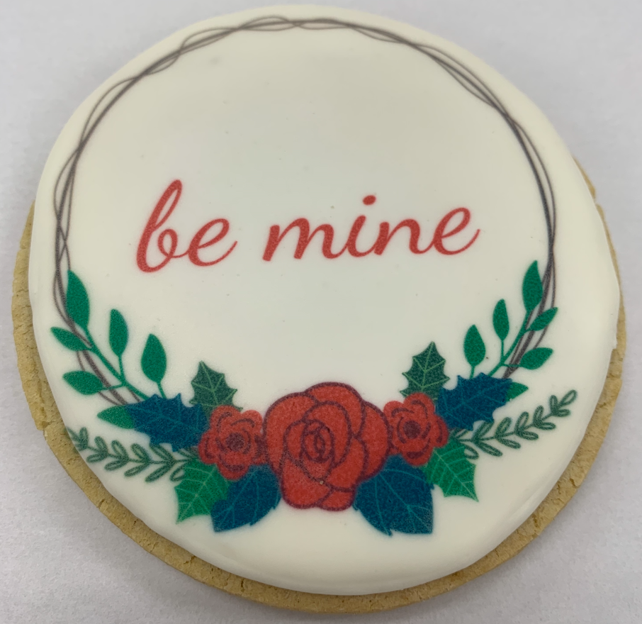"Valentines Printed ""be mine"""