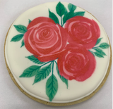Printed Rose Cookie