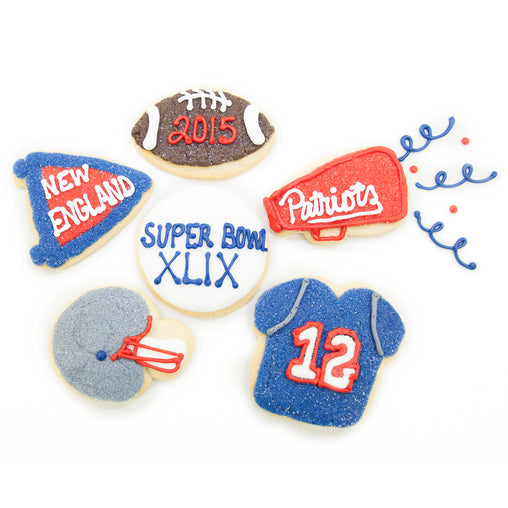 A Dozen Decorated Super Bowl Cookies