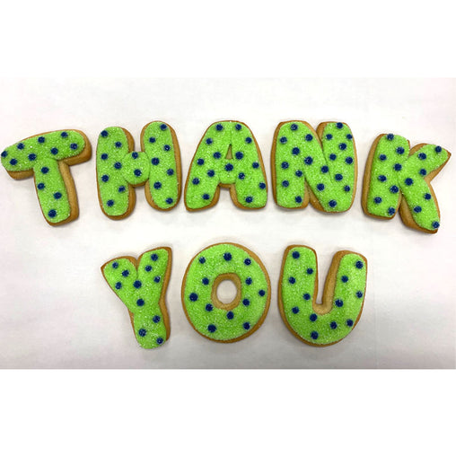 "Decorated ""Thank You"" Cookies"