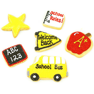 A Dozen Decorated Back to School Cookies