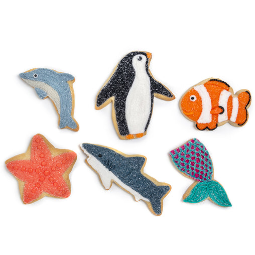 "A Dozen Decorated ""Ocean Friends"" Cookies"