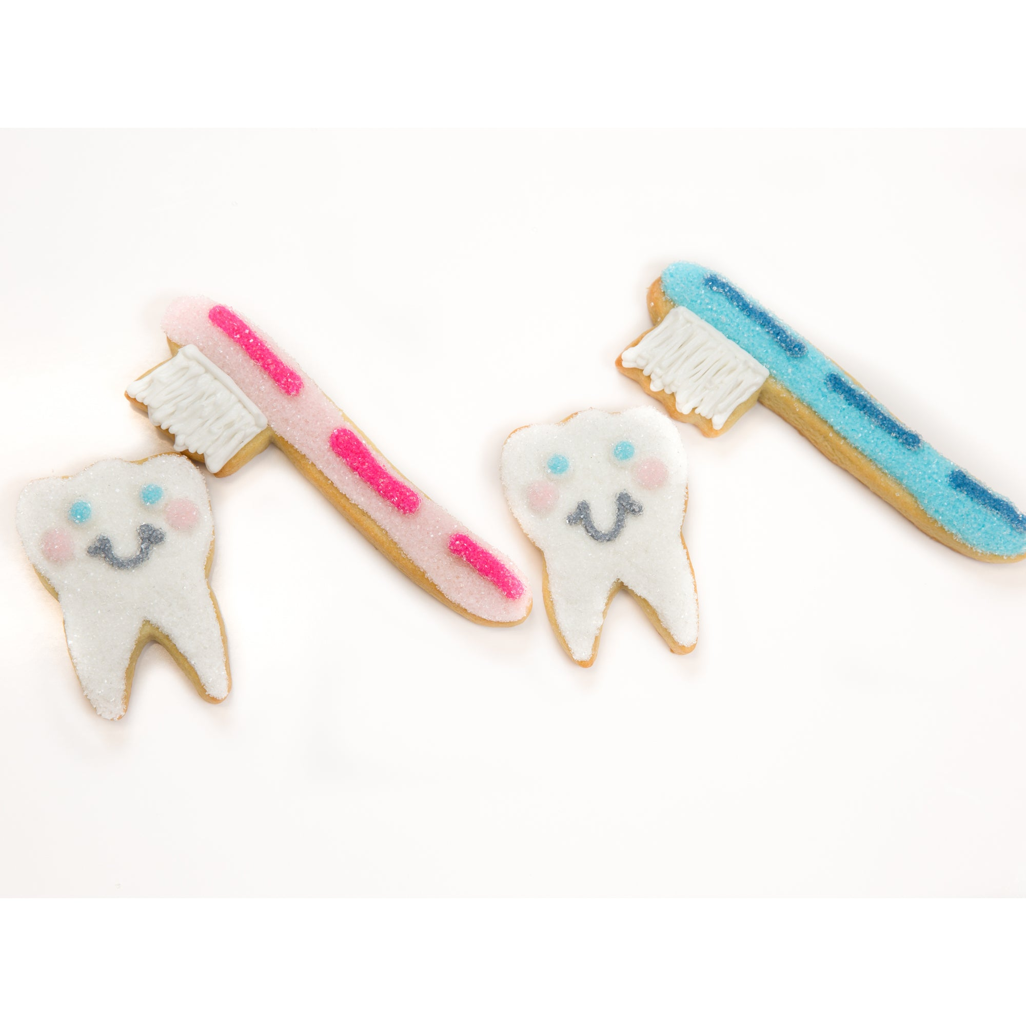 A Dozen Decorated Dental Health Cookies