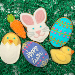 A Dozen Decorated Easter Cookies