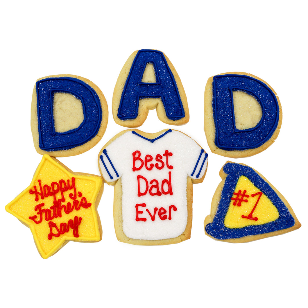 A Dozen Decorated Father's Day Cookies