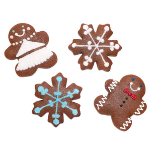 A Dozen Decorated Gingerbread Cookies