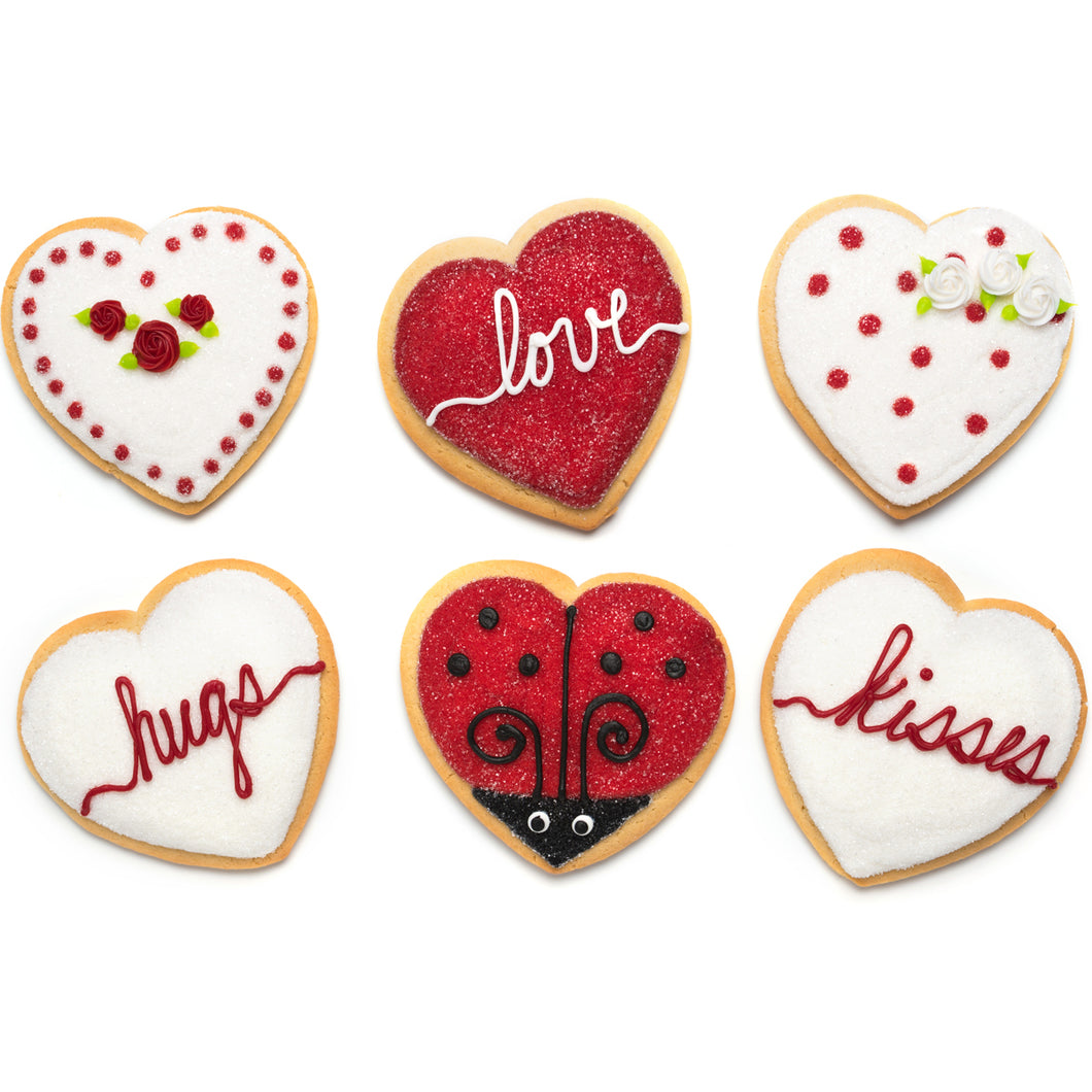 A Dozen Decorated Valentine's Day Cookies