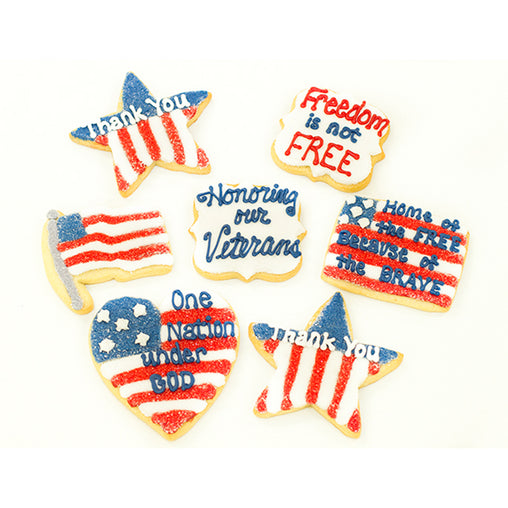 A Dozen Decorated Veteran's Day Cookies