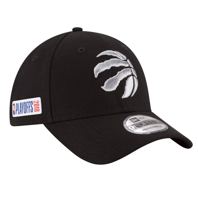 Toronto Raptors Adult Men's New Era Black 2018 Playoffs Cap 940 Adjustable Hat